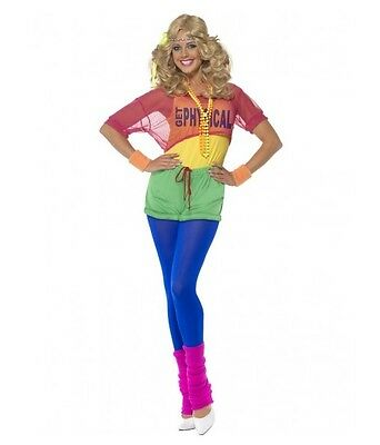 """Olivia Newton John Inspired """"get Physical"""" Ladies Costume - Size Small - Melb Lo"""