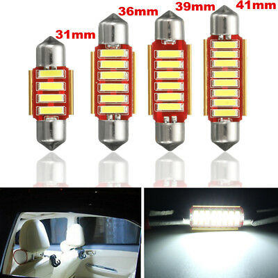 31mm 36mm 39mm 41mm LED Reading License Number Plate Interior Lights Bulbs White
