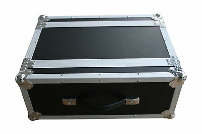 "Effekt Rack 4HE 25cm 19"" Flightcase Butterfly Double Door DJ Case *Retoure*"