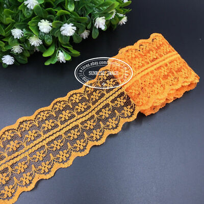 11.5 Yards,Bilateral Handicrafts Embroidered Net Lace Trim Ribbon