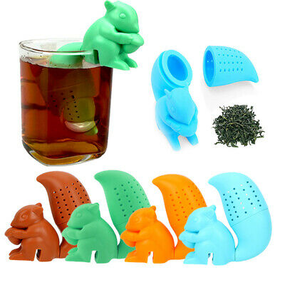 Silicone Cute Tea Infuser Loose Leaf Strainer Herbal Spice Filter Diffuser JFD