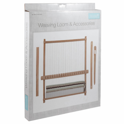 Trimits Yarn Weaving Loom & Accessories Kit Weave Craft Textiles