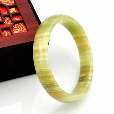 Fine Natural Chinese jade hand-carved bracelet,beautiful bangle62mm