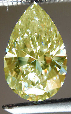 2.40ct VVS1/14.37MM OFF  WHITE YELLOW COLOR LOOSE PEAR MOISSANITE 4 RING/PENDANT