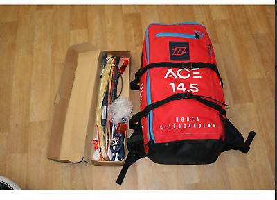 North Ace Kitesurfing Foil Kite 14.5m with foil bar 2018 Light wind hydrofoil