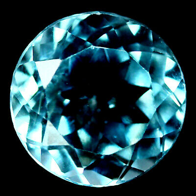 4.64 CT VVS NATURAL SKY BLUE TOPAZ BRAZILIAN ROUND 10mm.