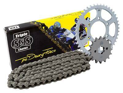 Triple-S Black Heavy Duty Chain and Sprocket Kit 14 / 50 Teeth Yamaha TW200 12>