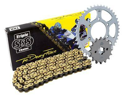 Triple-S Gold O-Ring Chain & Sprocket Kit 17/42 Suzuki DL1000 V-Strom All 02-10