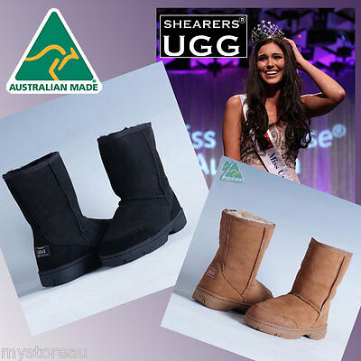 CLERANCE SPECIAL Australia HAND-MADE SHEARERS UGG Outdoor Short Sheepskin Boots