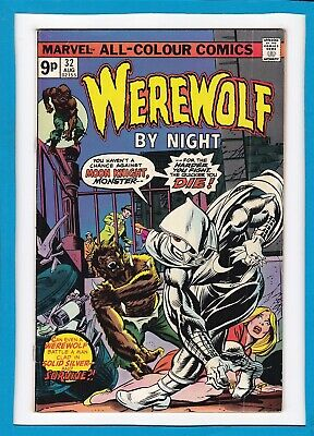 Werewolf By Night #32_August 1975_Fine+_First Appearance Moon Knight_Uk Variant!