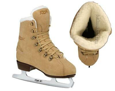 Reebok Fashion Suede Style Figure Ice Skates - Junior & Senior, Reduced To Clear
