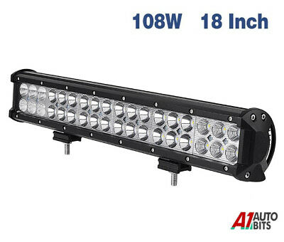 18 Inch 108w Led Work Combo Light Bar Offroad Truck Driving Suv Jeep Atv 12/24v