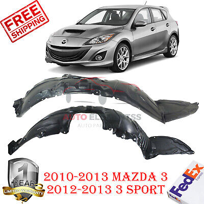 Front, Driver Side New Splash Shield for Mazda 3 MA1248139 2010 to 2013