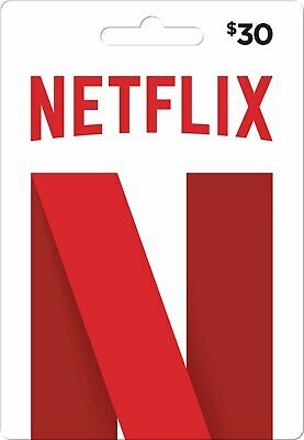$30-Netflix Gift Card ⚡⚡ EMAIL DELIVERY 10H⚡⚡ ! Guaranteed by Paypal