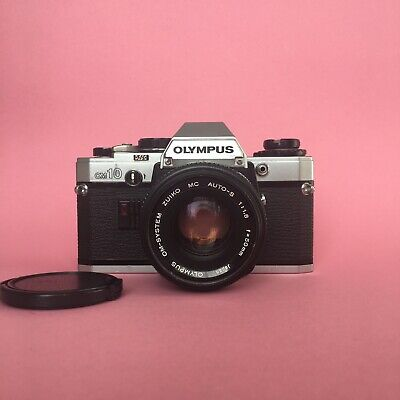olympus om10 W/ Zuiko 50mm F/1.8 Lens And Cap *EXCELLENT CONDITION* - Tested