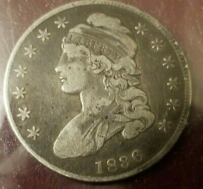 1836 Capped Bust Half Dollar Fine Coin