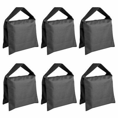 Neewer® 6 Pack Black Sand Bag Photography Studio Video Stage Film Saddlebag for