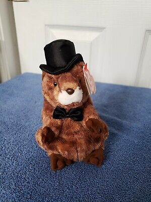 Ty Beanie Babies Punxsutawney Phil 2004 Groundhog Retired Tags With Error  2003 a558af89cdc7