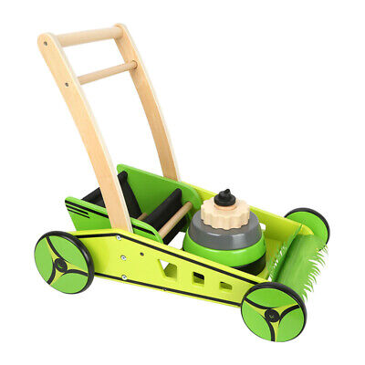 "Legler 11292 Walking Cart "" Rasemäher "" Green/Yellow Walker Wood New! #"
