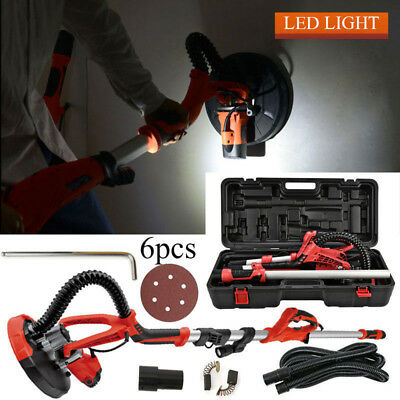 Commercial Electric Stretchable Drywall Sander Kit 750W w/6xSand Paper LED Light