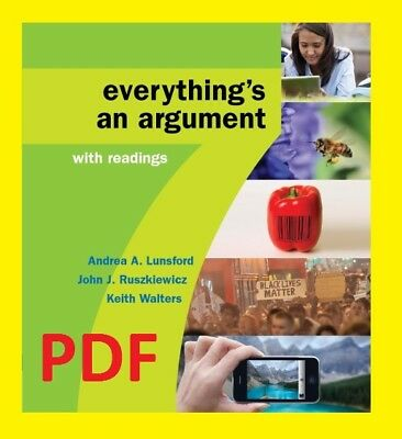 Everything's an Argument with Readings, 7th Edition [PDF] EB00K - Fast Delivery