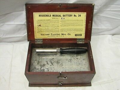 Antique Voltamp Household Battery Machine Quack Medical Shock Therapy