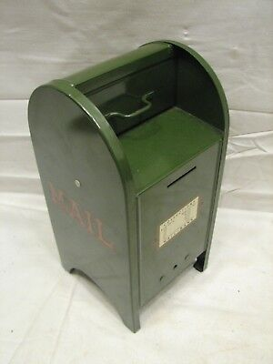 Vintage Post Office MailBox Bank All-American US Mail Box Pat Pend
