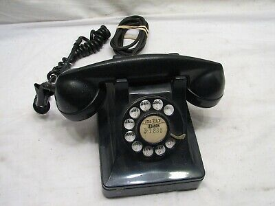 Bell System Western Electric Art Deco Rotary Phone Pyramid Desk Telephone F1