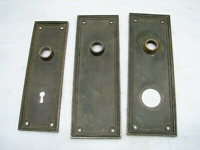 Lot Yale Colonial Brass Door Knob Lock Escutcheon Plates Office Entry