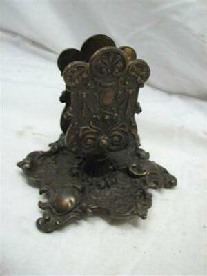 Antique Bradley & Hubbard Victorian Art Nouveau Cast Iron Match Box Holder B&H