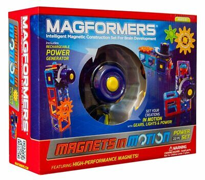 Magformers Magnets in Motion Power Set Educational Building Blocks Toy 22 Pieces