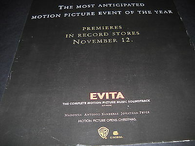 EVITA featuring Madonna ...EVENT OF THE YEAR 1996 Promo Display Ad mint cond.