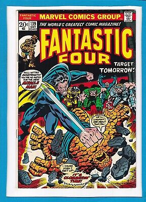 """Fantastic Four #139_October 1973_F/vf_Miracle Man_""""target: Tomorrow""""_Bronze Age!"""