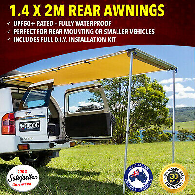 Awning  1.4 x 2m Kings Rear 4WD Roof Top Tent Shade Extension Car Cover Outdoor