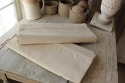 Vintage French Linen Fabric 2 Sheets MATCHING pieces for upholstery & sewing