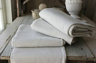 Sheets vintage French linen & cotton fabric 3 MATCHING for upholstery & sewing