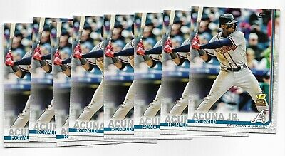 2019 Topps Series 1 Ronald Acuna Jr. Rookie Cup Card 1 (8 Card Lot)