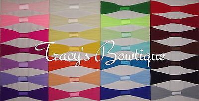 Lot of 12 Infant Baby Newborn Interchangeable Nylon Pantyhose Headbands 0-12 Mos