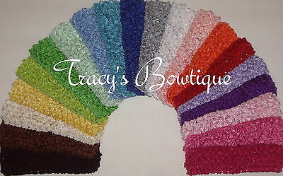 "Pick 24 Crochet 1.5"" Stretch Interchangeable Headbands for Hair Bows & Flowers"