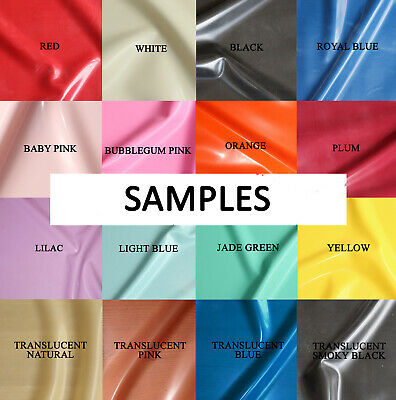 Samples of our Latex Sheet Fabric, All Colours & Gauges