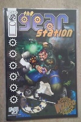 Wizard Image Comic Gear Station #1/2 Gold Foil Edition  COA Certificate