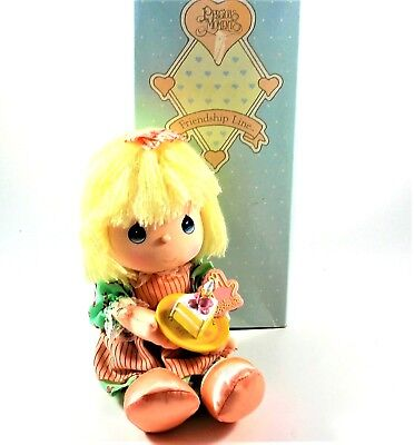"PRECIOUS MOMENTS Happy Birthday Doll 1989 by Applause 11.5"" #16595"