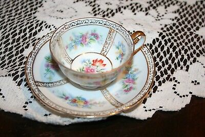 Pretty Ornate Occupied China Demitasse Cup and Saucer set