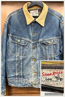 Vintage 1960'S Lee Storm Rider Denim Blanket Lined Workwear Jacket - Large