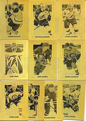 18-19 UD TIM HORTONS COLLECTOR'S SERIES GOLD ETCHINGS SET 10 CROSBY McDAVID +