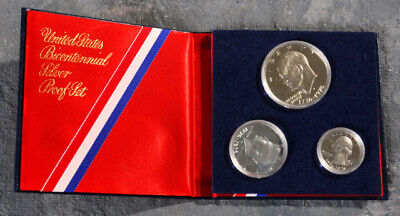 "United States 1976 Bicentennial Silver Proof Set ""s"" 1776-1976"