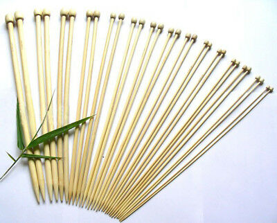 15 Sizes US Size 0-15 Bamboo Single Pointed Knitting Needles 34cm long 1 Pair