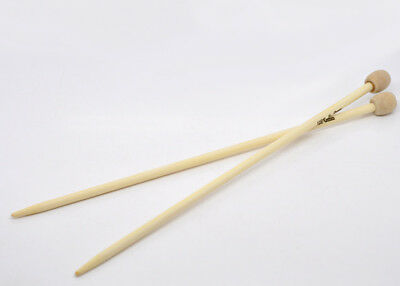 13 Sizes (US size 2-15) Bamboo Single Pointed Knitting Needles 23cm long 1 Pair