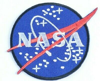 Nasa Logo Stars Embroidered Applique Sew Iron on Space Badges