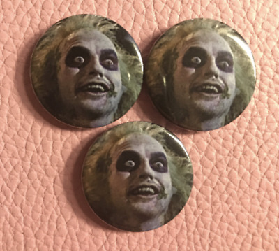 BEETLEJUICE Pin Badge Button Jacket Patch Funny